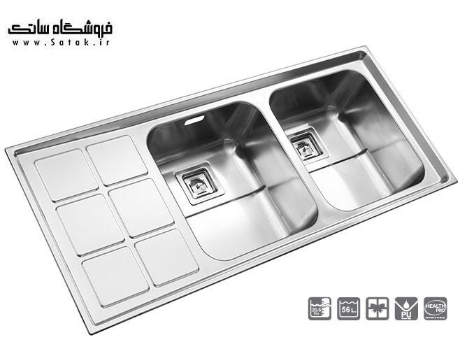 سینک ظرفشویی استیل البرز 761 توکار