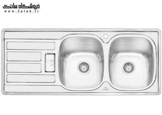 سینک ظرفشویی توکار پرنیان استیل 1201