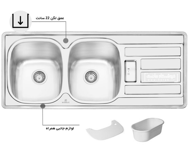 سینک ظرفشویی 1201 پرنیان استیل